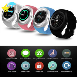 """Wholesale call tracking - Y1 Smart Watch 1.54"""" Touch Screen Fitness Activity Tracker Sleep Monitor Pedometer Calories Track support SIM card solt"""
