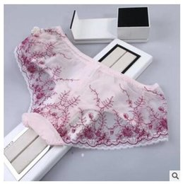 Wholesale Light Blue Lace Underwear - DHL free shipping 2017 women lace panties briefs spring summer new sexy lace sexy Lingerie underwear hip anti-low light briefs underwear new