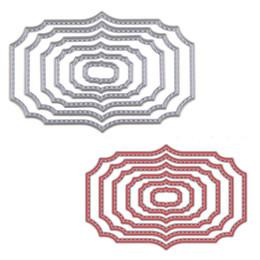 6шт/набор волнистые квадратные рамки для резки умирает трафареты для скрапбукинга карта бумага для альбома ремесло тиснения от Поставщики рамочный трафарет