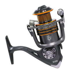 Wholesale Metal Gear Series - Wholesale MK Series 5.5:1 Gear Ratio Fishing Reel Metal Main Body Spinning Reel Light Weigth Fishing Gear Free Shipping