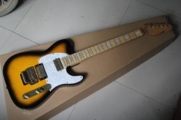 Wholesale Electric Guitar F Tl - Free shipping HOT! High Quality Golden accessories F TL Tele Telecaster sunburst Yellow Electric Guitar BY tremolo