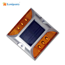 Wholesale Outdoor Led Step Lights - Wholesale- LumiParty Outdoor Lighting Solar Power Panel Buried Lamp LED Underground Lamp LED Street Road Stairs Step Floor Light Home IP68