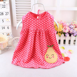 Wholesale Baby Clothes For Cheap - Wholesale- Baby Girls Dresses Summer Baby Clothes The Cotton Dresses For Babies 2015 Cheap Children dress Free Shipping