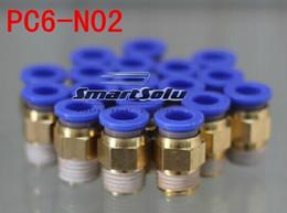 Wholesale Valve Npt - 20pcs lots PC6-N02 female elbow, for 6mm hose NPT 1 4 thread, pneumatic flow control valve, pneumatic connectors