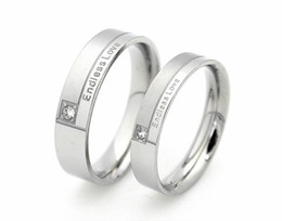Wholesale Endless Love Rings - stainless steel Endless love couple rings for lovers mix band size wholesale