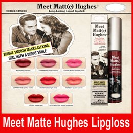 Wholesale Matt Lipsticks - Brand Meet Matt(e) Hughes Long Lasting Liquid Lipstick 8 Colors Sexy Red Lip Stick 6.5ML Waterproof Matte Batom DHL Free