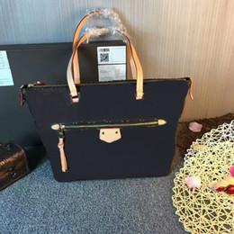 Wholesale Top Grade Handbags - Top Grade Brown Canvas Coated Real Genuine Leather Handbag RETIRO Women Fashion Designer CX#121 Tote Shoulder Bags 42267 Wallets Totes Bags