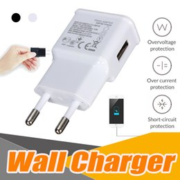 Wholesale Android Dock Adapter - Micro USB Wall Charger Home Universal EU US Plug Travel Adapter True Full 5V 2A 1A For Android Samsung S8 S7 edge Note 8 iPhone X 8 7 plus 6