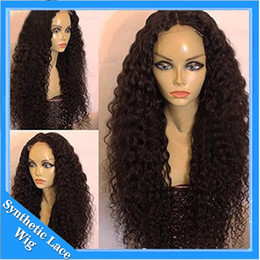 Wholesale Black African American Synthetic Wigs - Black Curly Wigs for Black Women Long Kinky Curly Synthetic Wig Heat Resistant Cheap African American Wigs Black Afro Curly Hair