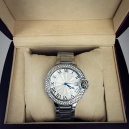 Wholesale Black Diamond Watches Men - Hot sale Fashion lady Man watches women watch with diamond silver Stainless Steel Bracelet Wristwatches Brand femalee clock free shipping