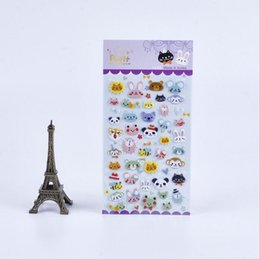 Wholesale Bubble Toys For Children - Wholesale- Many Children Stereoscopic 3d Stereoscopic Cute Animal Kingdom Bubble Stickers   Birthday Boy Toys For Children