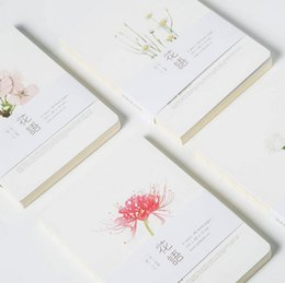 Wholesale Notepads Designs - Wholesale- Note for flowers brief notebook 80 pages blank sheets sketchbook gift four designs