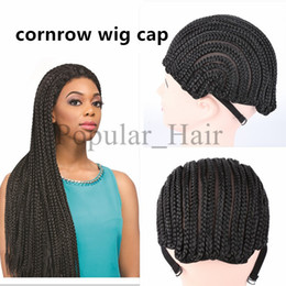 Wholesale Top Quality Wig Caps - elastic braided wig cap for weave making wigs cornrow wig caps top quality weaving cap with adjustable strap net for glueless lace wig