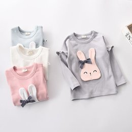 Wholesale Fashion Clothing Summer Youth - 2017 kids clothing Happy Easter Colorful Cute Holiday Kids T-Shirt Gift Idea Youth T-Shirt Easter Rabbit Silhouette Cool baby girls clothes