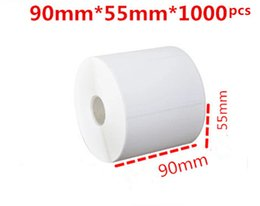 Wholesale Blank Sticker Paper - 90*55mm 1000pcs roll blank or white paper free shipping barcode self adhesive sticker label