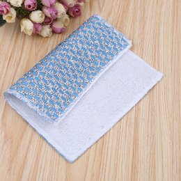 Wholesale Eco Fiber - Kitchen cleaning cloth bamboo fiber wash towel home cleaning essential kitchen supplies