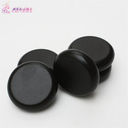 Wholesale Slim Body Oil - HIMABM 1 pack=4 pcs 8*8cm hot spa black basalt stone basalt stone essential oil massage volcanic energy stone for body massage