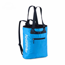 Wholesale City Bags - Wholesale- 15L Outdoor Nylon Coating PU Unisex Ultralight Waterproof City Jogging Bags Womens Shipping Shoulder Bag Cycling Travel Running