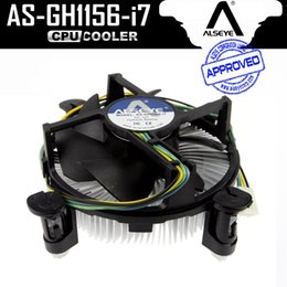 Wholesale I7 Lga 1155 - Wholesale- ALSEYE Copper and Aluminum Heatsink CPU cooler with 90mm PWM 4pin CPU Fan for i3 i5 i7, LGA 1150 1151 1155 1156