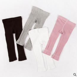 Wholesale Tight Striped Dresses - Children leggings Girls stripe tights kids cotton long pants Spring new falbala nine pants girls princess dress leiggins kids bottoms T2058