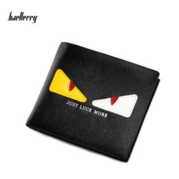 Wholesale Vintage Coin Wallet - Baellerry Fashion Hot 2017 Small Monster Designer Wallet New Cartoon Student Money Clips Men Short Purses