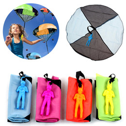 Wholesale Throwing Flying Toys - Funny Outdoor Hand Throw Parachute Flying Umbrella Toy Kids Educational Toys Random Color @Z227 YH-17
