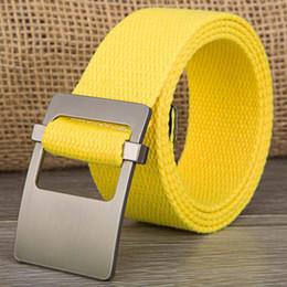 Wholesale Canvas Belt Blue - 130cm Casual Style Deep Blue Men Belt For Jeans Ladies Women Unisex Canvas Belt Waist Strap Female