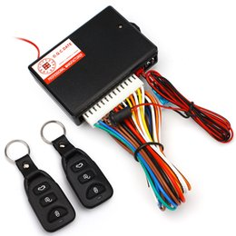 Wholesale Remote Car Door Kit - (10PCS Lot) Universal Car Auto Remote Central Kit Door Lock Locking Vehicle Keyless Entry System New With Remote Controllers