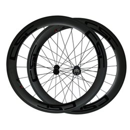 Wholesale Rear Hub 24h - 700c 60mm 3k Superlight Carbon Clincher Road Bike Wheelset Cycling Racing Wheels 20 24h Powerway R13 Hub Road Bicycle Wheelset with Decal
