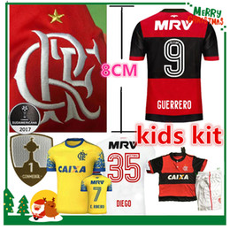 Wholesale Man Kids - 17 18 flamengo jersey Flamengo Jersey 2017 2018 Brasil Flemish Away ZICO ELANO HERNANE Soccer Jerseys sports kids kit boy chlid shirt