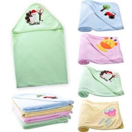 Wholesale Green Blue Bath Towels - 1 pieces lot DANROL 2017 new Style random baby Warm blanket newborn baby bath towel blankets conditioning baby DR0052