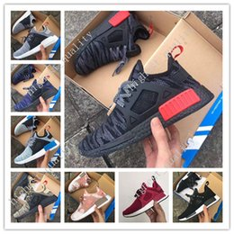 Wholesale Original Japan - Hot NMD XR1 Mastermind Japan MMJ Black White Men Women Running Shoes Sneakers Originals NMDs Runner Primeknit Boost Sports Shoes size 36-45