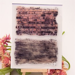 Wholesale Rubber Wood Grain - Wholesale- New 2016 about brick wall and wood grain design clear stamps siliconr gel material handmade scrapbooking embellishments liu059