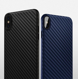 Wholesale Design Back Covers - For iPhone X Case Carbon Fiber Design Ultra-Slim PP Back Cases For Apple X Phone Cover