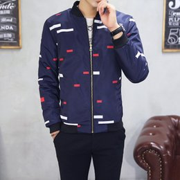 Wholesale Handsome Man Coat - The 2017 explosion of new spring Baseball Jacket collar Boys Youth slim size coat handsome Korean thickening