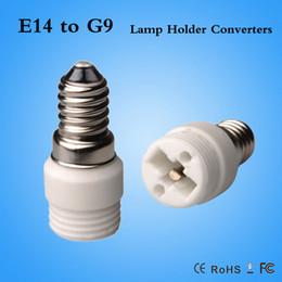 Wholesale E14 G9 Adapter - led lampholder Fireproof Material E14 to G9 lamp Holder Converter Socket Conversion light Bulb Base type Adapter