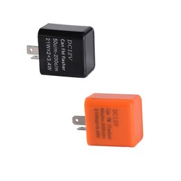 Wholesale Relay Light - 2 Pins 50C m-200C m Motor LED Flasher Relay Fix 12V Flash Speed Adjustable Motorcycle Turn Light Signal Indicator Resistor