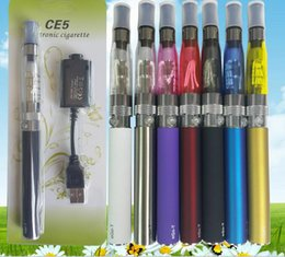 Wholesale Ego Ce5 Blister Pack Cigarette - HOT CE5 Electronic Cigarette Blister kits CE5 ego starter kit e cig ce4 atomizer 650mah 900mah 1100mah battery in Blister Pack