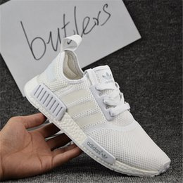 Wholesale Classic Women Running Shoes - 2017 Adidas NMD Runner R1 Primeknit White OG Black Nice Kicks Men Women Running Shoes Sneakers Originals Classic Casual Shoes With Box