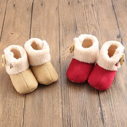 Wholesale Infant Girls Snow Boots - Baby Shoes Snow Boots Winter New Year Christmas Toddler Girl Shoes Infant Warm Boot 11-12-13 6pair lot