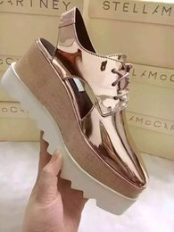 Wholesale Rose Gold Leather Wrap - Stella Mccartney Sandals Shoes Rose Gold Mirror Leather Wedge Platform Elyse Nina