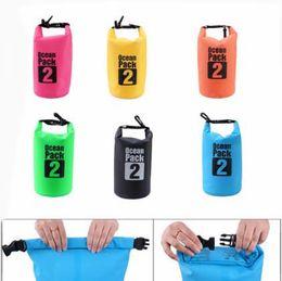 Wholesale Waterproof Pvc Handbags - Outdoor PVC Waterproof Bag Swimming Dry Sack Storage Bag Pouch Rafting Sports Kayaking Canoeing Swimming Bag Travel Kits