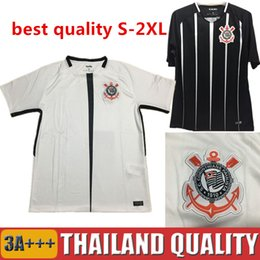 Wholesale Love Jerseys - big size 2XL 2017 Camisa do corinthian Soccer Jerseys Pato Football Shirt 17 18 Elias Gil Malcom Jadson Vagner Love 2018 Home Morbi uniforms