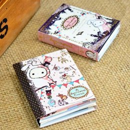 Wholesale Folding Rabbit - Freeshipping!! Lovely Rabbit Notepad Memo Pads 6 fold note memo Writing scratch pad note sticker Korean style