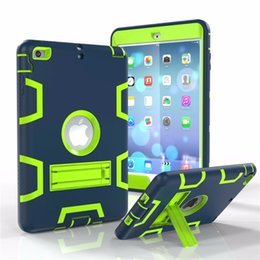 Wholesale Nexus Hybrid - Case for iPad Mini 2 3 Shockproof Heavy Duty Plastic+Rubber Cover for iPad iPad 4 Air Pro Hybrid 3 in 1 Tablet Case with Stand Holder
