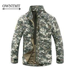 Wholesale Short Hunting Jacket - HOT Tactical jacket military clothing men jackets coats hunt tactical camouflage ACU military clothing army coat windcheater