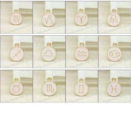 En gros 36pcs / lot émail alliage or-couleur bijoux pendentifs Zodiac mixte pour bracelet collier bricolage fabrication de bijoux ? partir de fabricateur