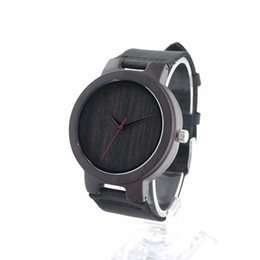 Wholesale Wholesale Sport Watches Japan - Mens Sports Watches Luxury Natural Bamboo Black Wood Automatic Watch With Canvas Band Fashion Japan Movement Quartz Watch SY-WD272