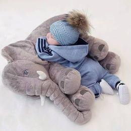 Wholesale Cotton Kapok - 28*33cm Elephant Plush Soft baby Sleep Positioner Pillow Baby Dolls Baby Toys Sleep Bed Car Seat Cushion Pillows Kids Bedding