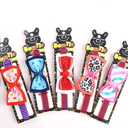 Wholesale Dog Accessories Harness - Dogs Cute Collars Bowtie Bowknot Shap Two Sizes Pets Accessories Supplies Harness Collar Lead Necklace Mixed Colors S M